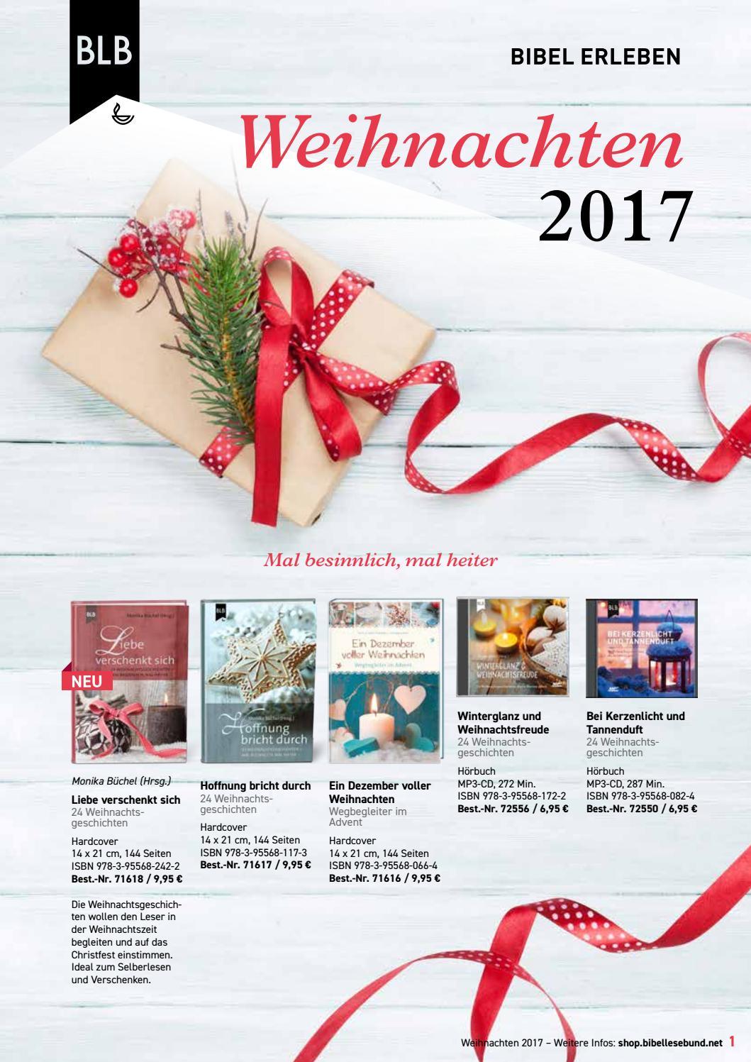 Weihnachten 2017 by Bibellesebund Deutschland - issuu