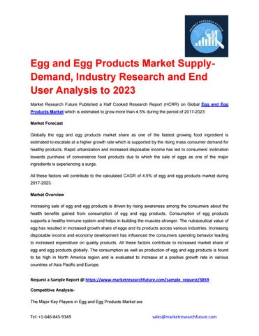 Egg and egg products market pdf by suraj taur - issuu