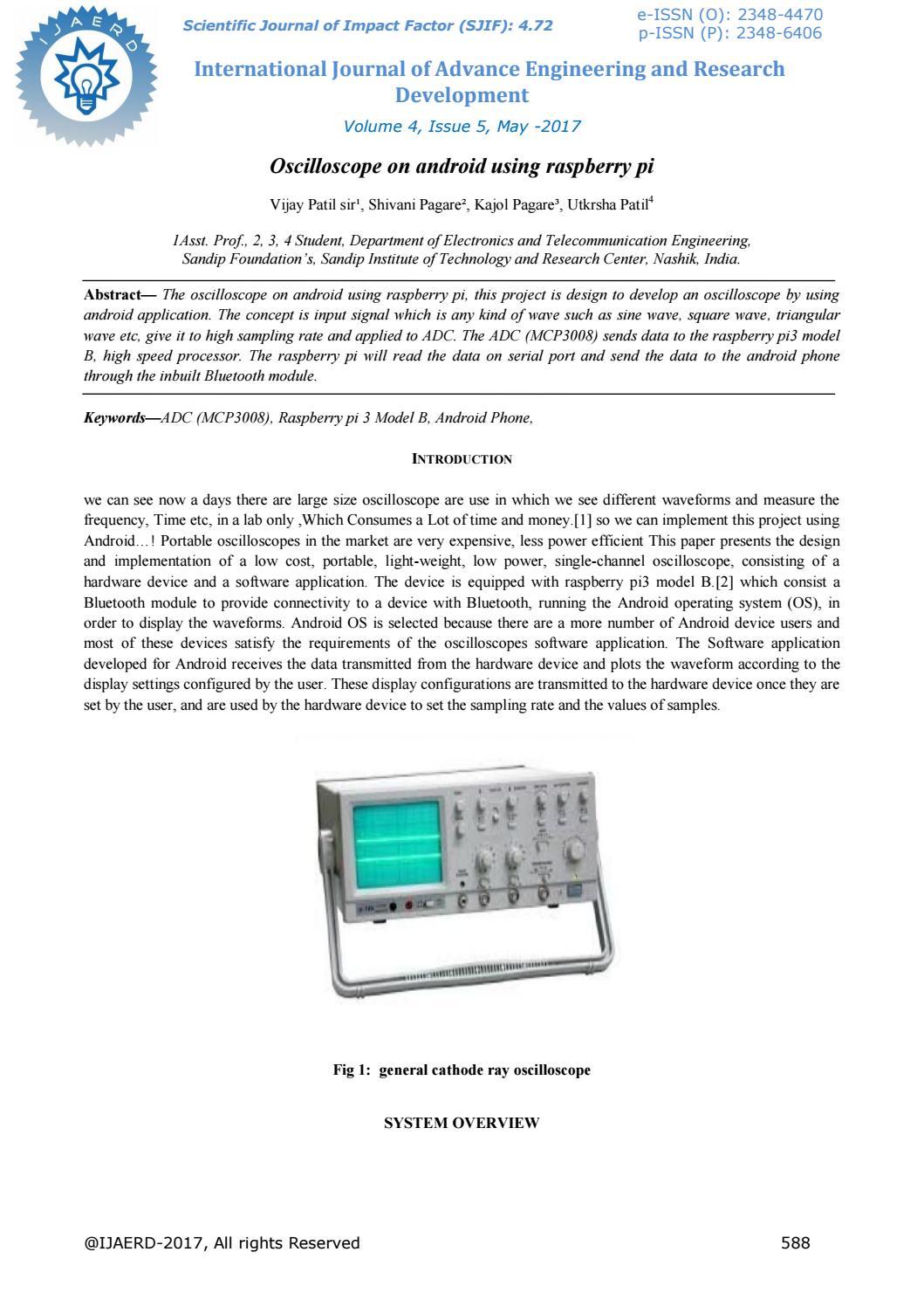 Oscilloscope on android using raspberry pi ijaerdv04i0521841