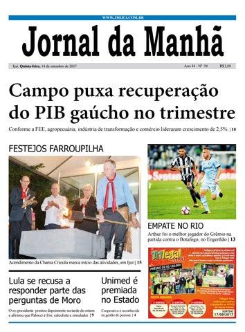 83cae935e Jornal da Manhã - Quinta-feira - 14-09-17 by clicjm - issuu