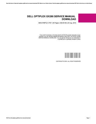 dell optiplex gx280 service manual download by agus38saroni issuu rh issuu com Gx280 Drivers Gx280 Drivers