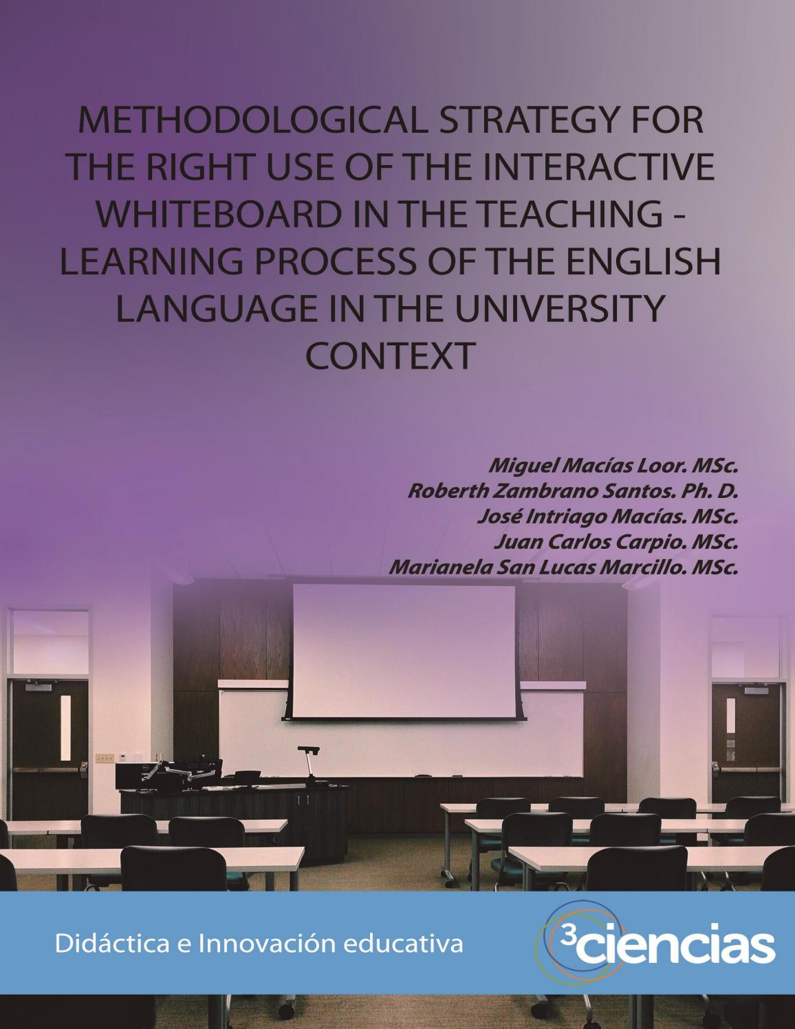 Methodological strategy for the right use of the interactive whiteboard by  Editorial Científica 3Ciencias - issuu