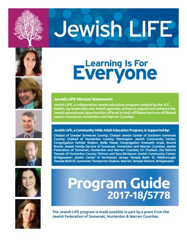 Jewish LIFE Program Guide 2017-18 by Shimon and Sara Birnbaum JCC