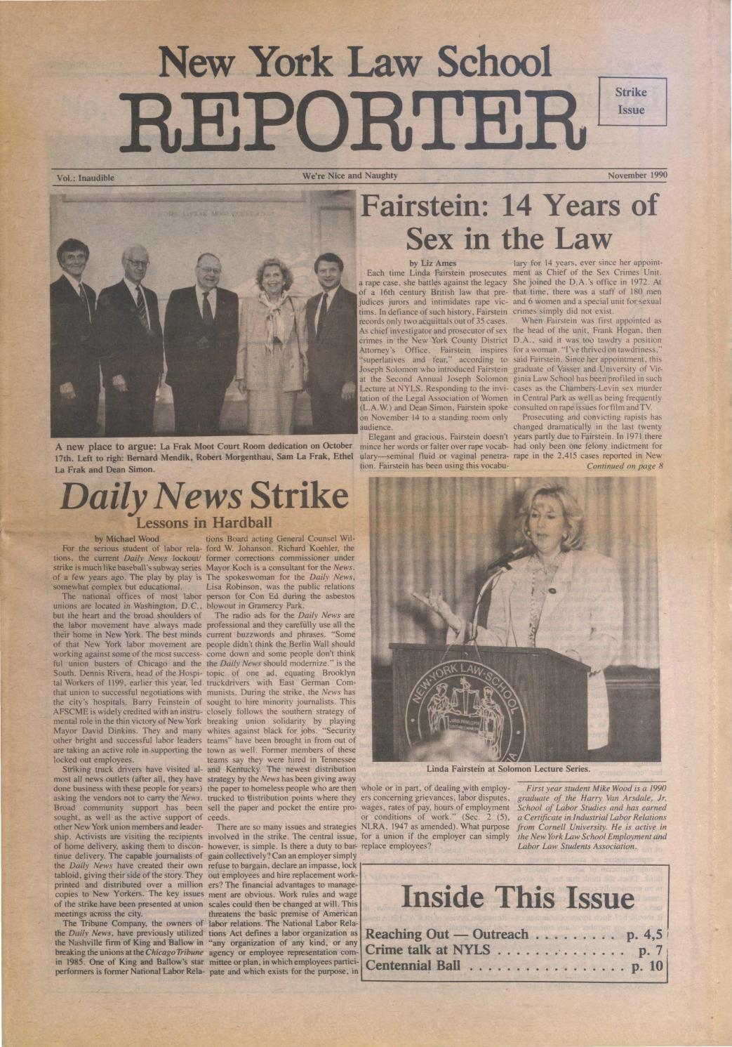 New york law school reporter november 1990