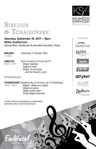 Sibelius & Tchaikovsky Program Notes by Kalamazoo Symphony