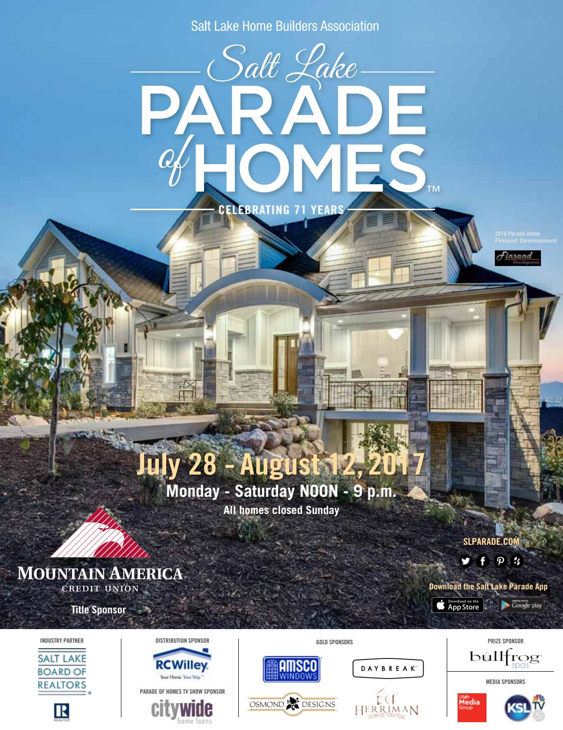 Salt Lake Parade Of Homes 2017 By Utah Media Group Issuu