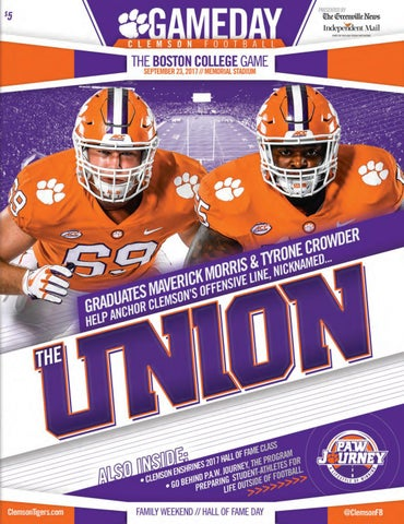 7b626dc74 Clemson Football    2017 Boston College Gameday Program by Clemson ...