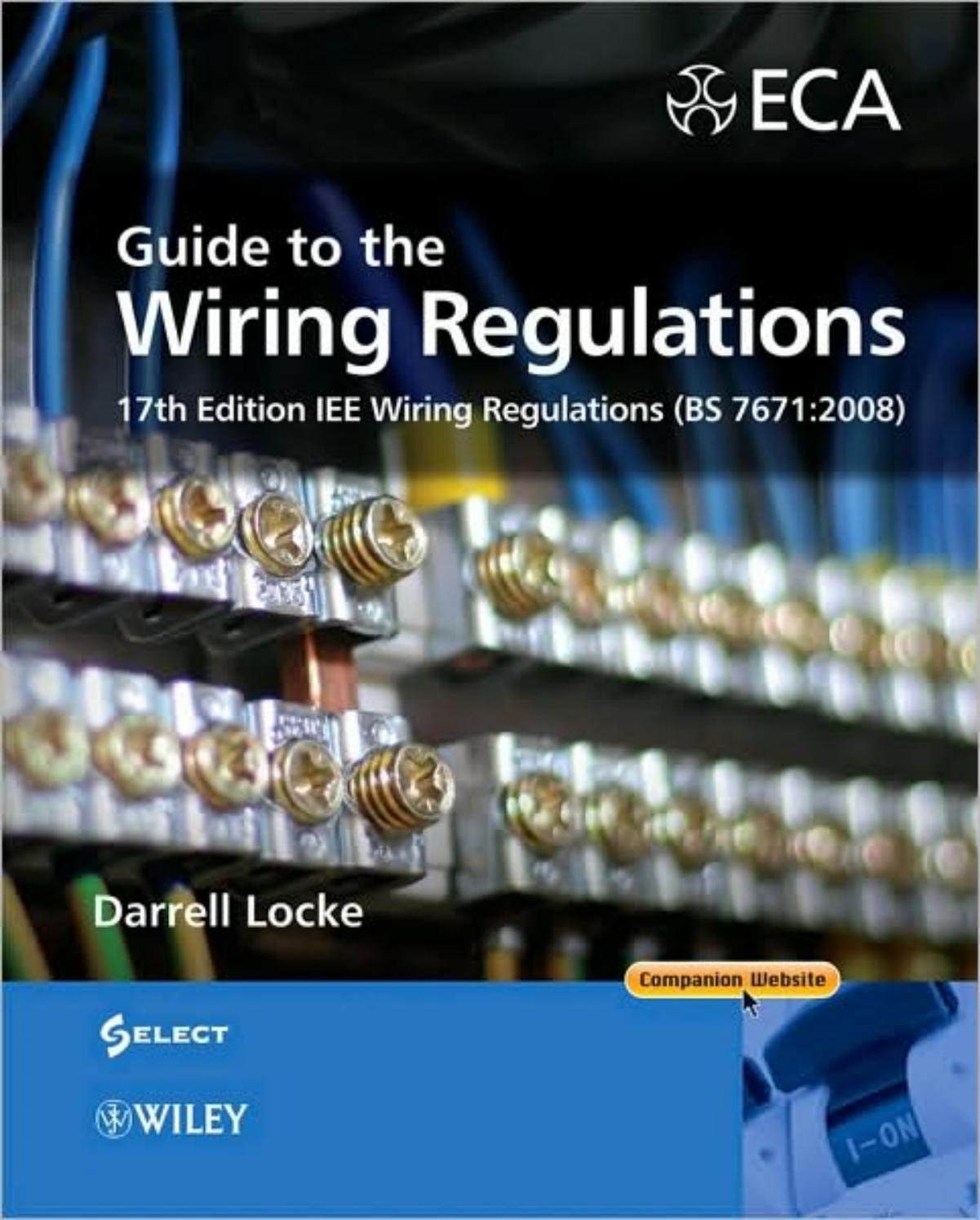 17th edition IEE wiring regulations by Kanaga Gnana - issuu