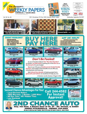 Local Buy Here Pay Here >> The Shopper S Weekly Centralia Salem Area By Scott