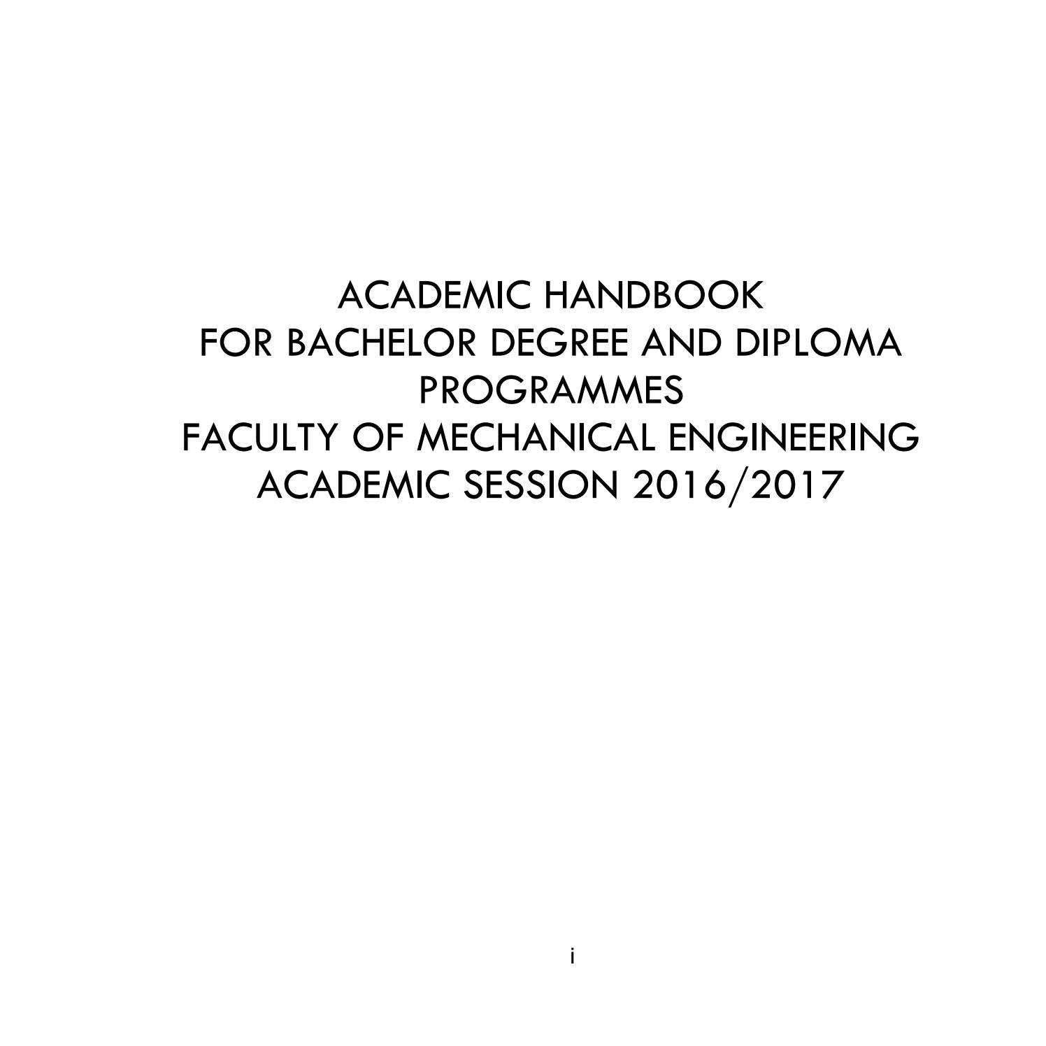 FKM Academic Handbook 2016/2017 by obeywans - issuu