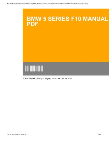 bmw 5 series f10 service manual free download