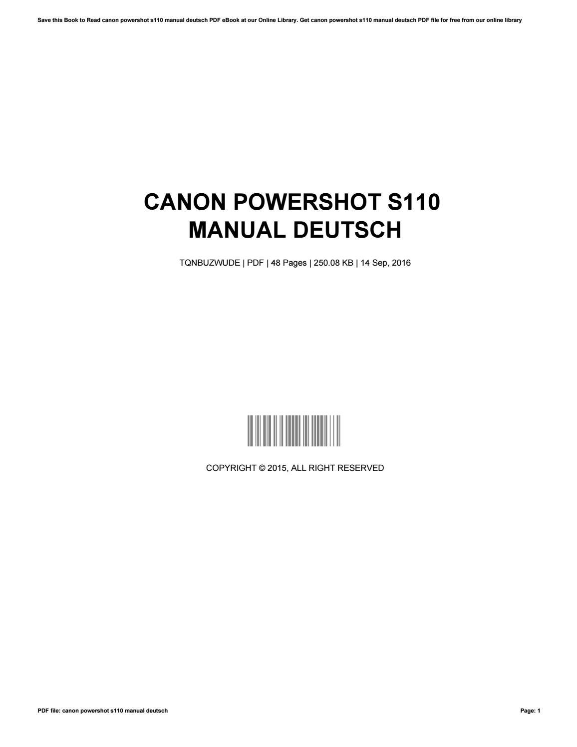 ... Array - canon powershot s110 manual deutsch by juliacoleman4137 issuu  rh issuu ...