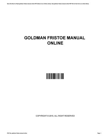 goldman fristoe manual online