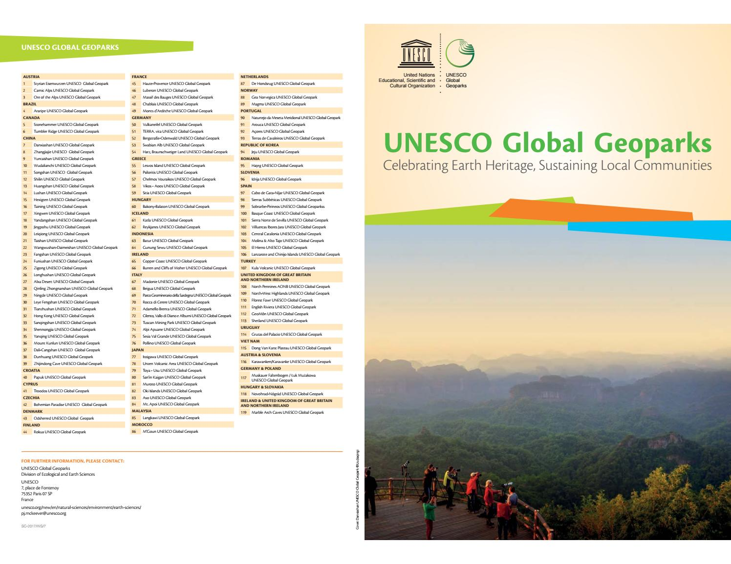 New unesco brochure by magmageopark - issuu