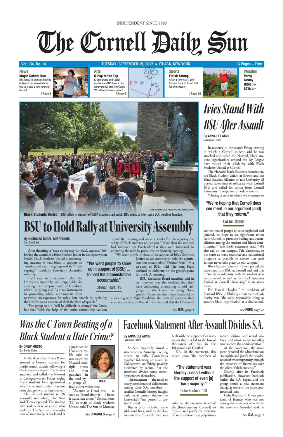 09 19 17 entire issue hi res by The Cornell Daily Sun - issuu
