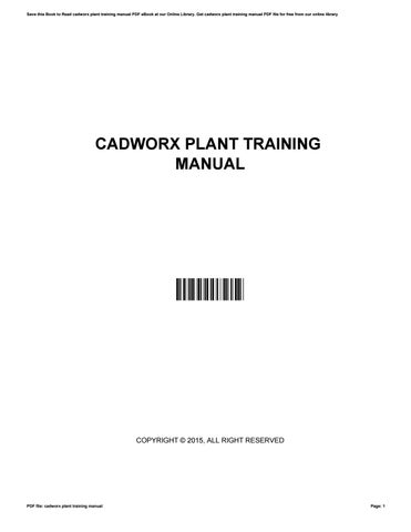 Cadworx plant training manual by MaribelTatum3502 - issuu