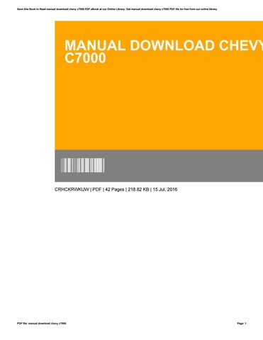 Manual download chevy c7000