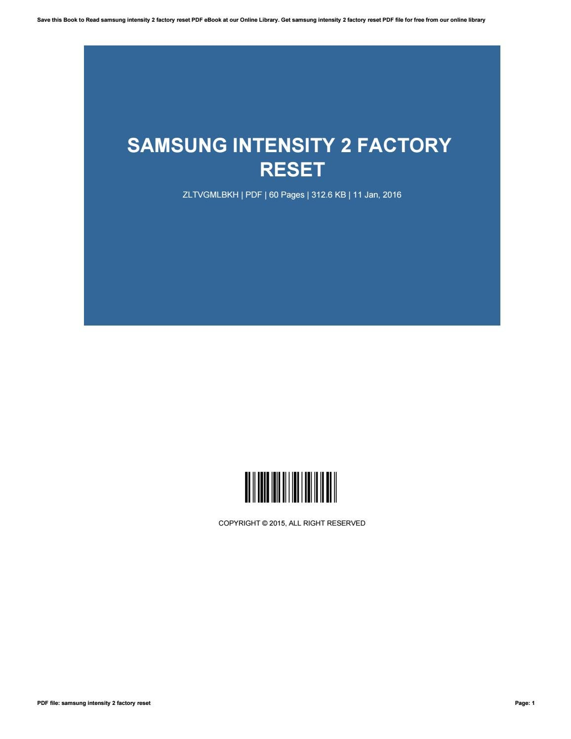 Samsung intensity 2 factory reset by KayleenBrady2567 - issuu