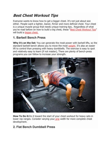 Best Chest Workout Tips Everyone Wants To Know How Get A Bigger Its Not Just About Size Either People Want Tighter Leaner Firmer And More