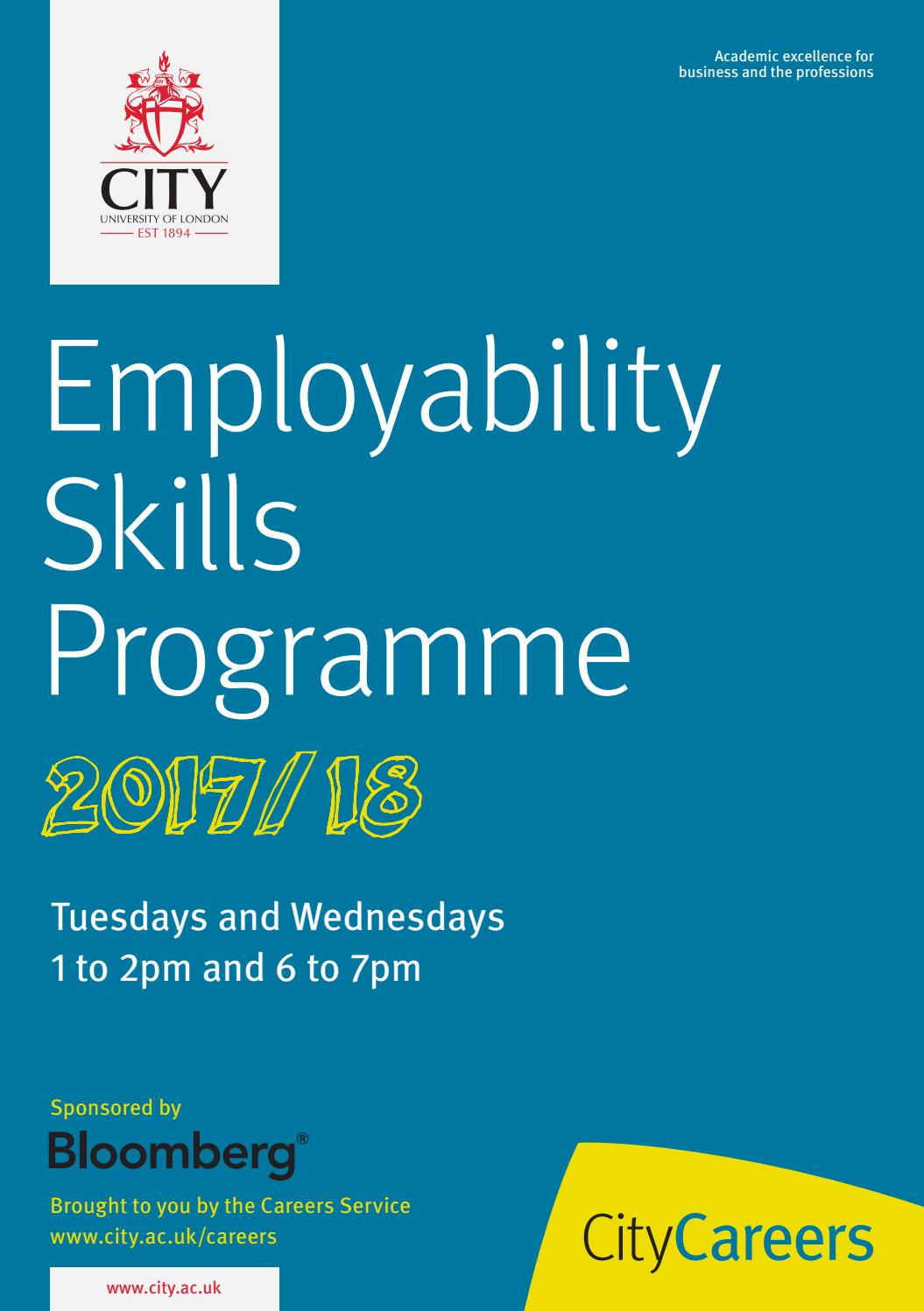 employbility skills Employability skills assessment can be done by utilizing an employability skills list the article brings example of three important employability skills - the fundamental skills, personal management skills and teamwork skills.