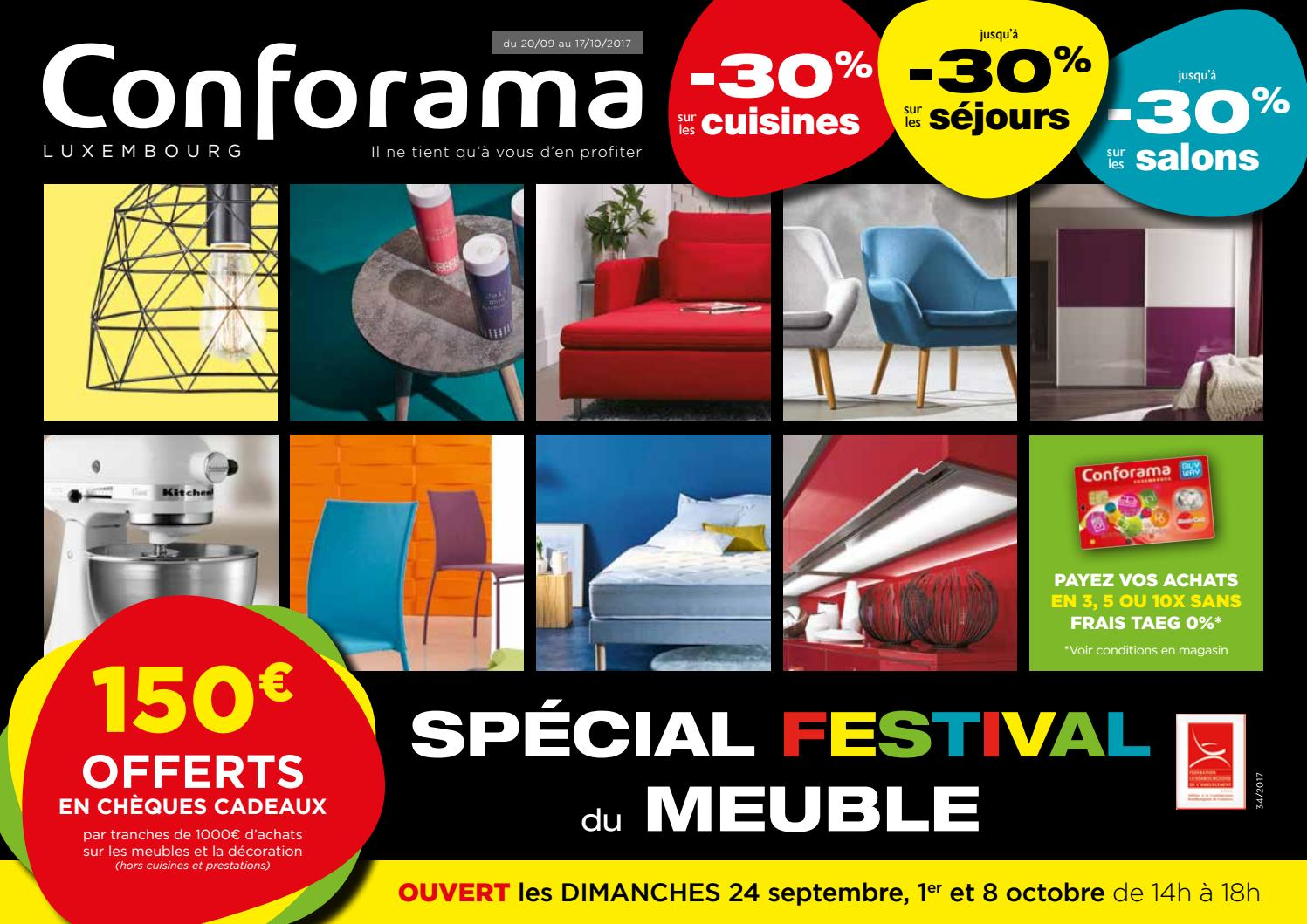 doc 34 sp cial festival du meuble by conforama luxembourg issuu. Black Bedroom Furniture Sets. Home Design Ideas