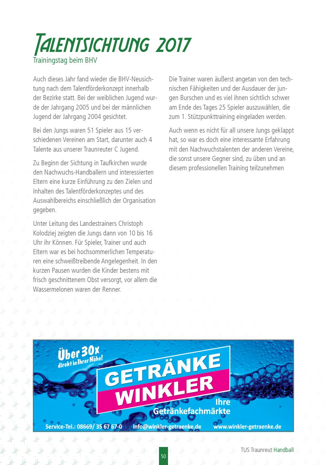 TuS Traunreut Handball Saisonbroschüre 2017/18 by TuS Traunreut ...