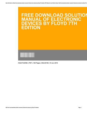 Electronic Devices By Floyd 6th Edition Pdf