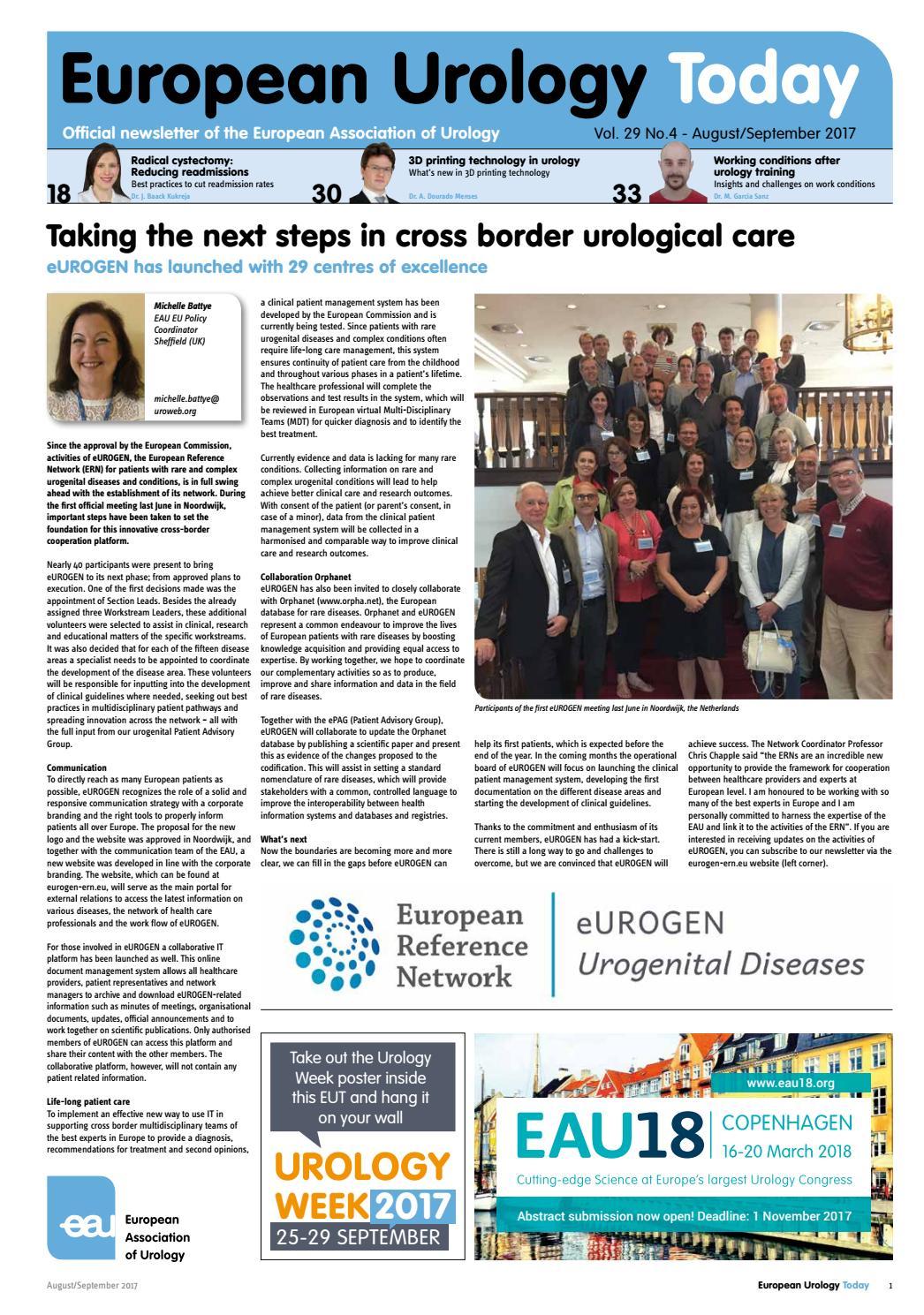 European Urology Today August/September 2017 by European Association of  Urology (EAU) - issuu