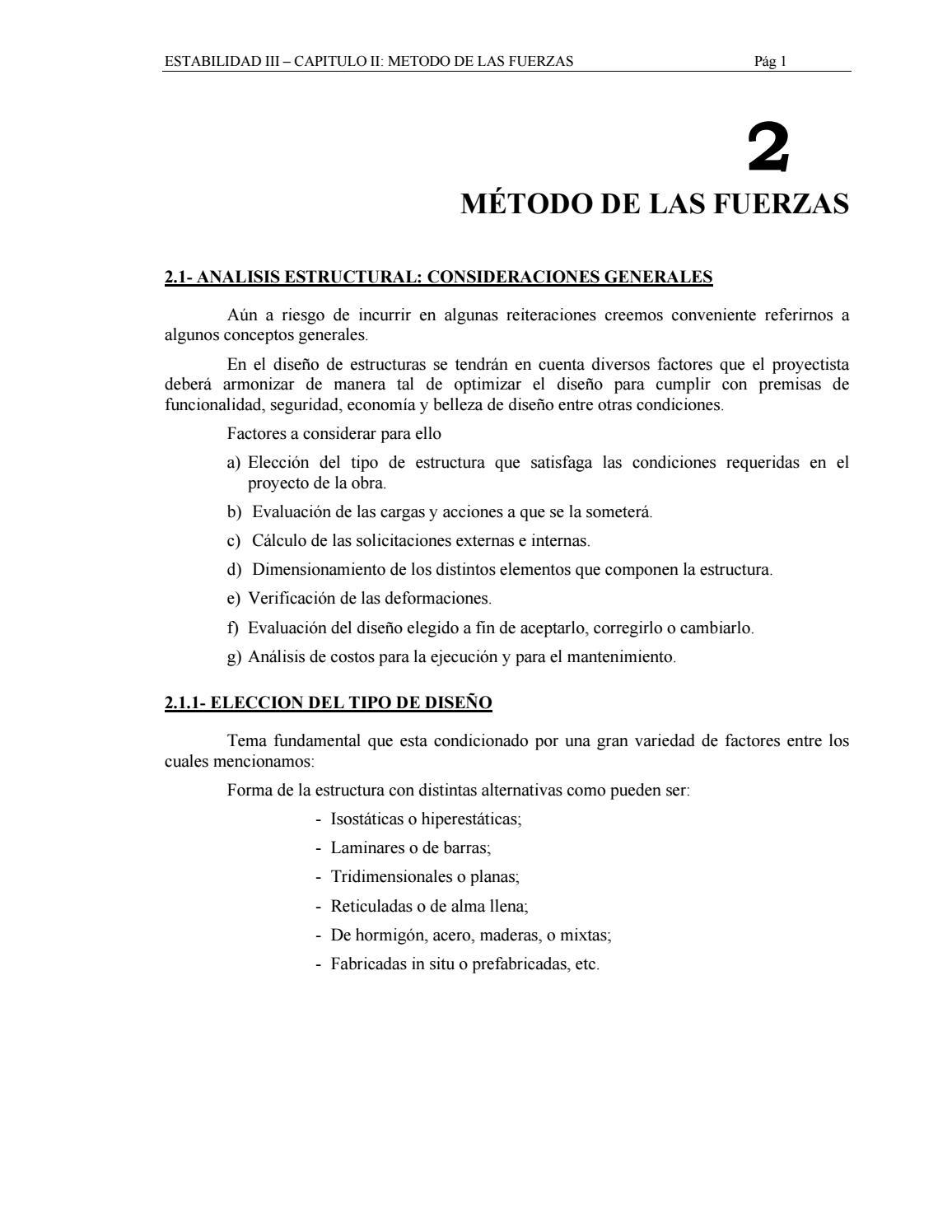 Metodo De Fuerzas By Juan Rojas Issuu