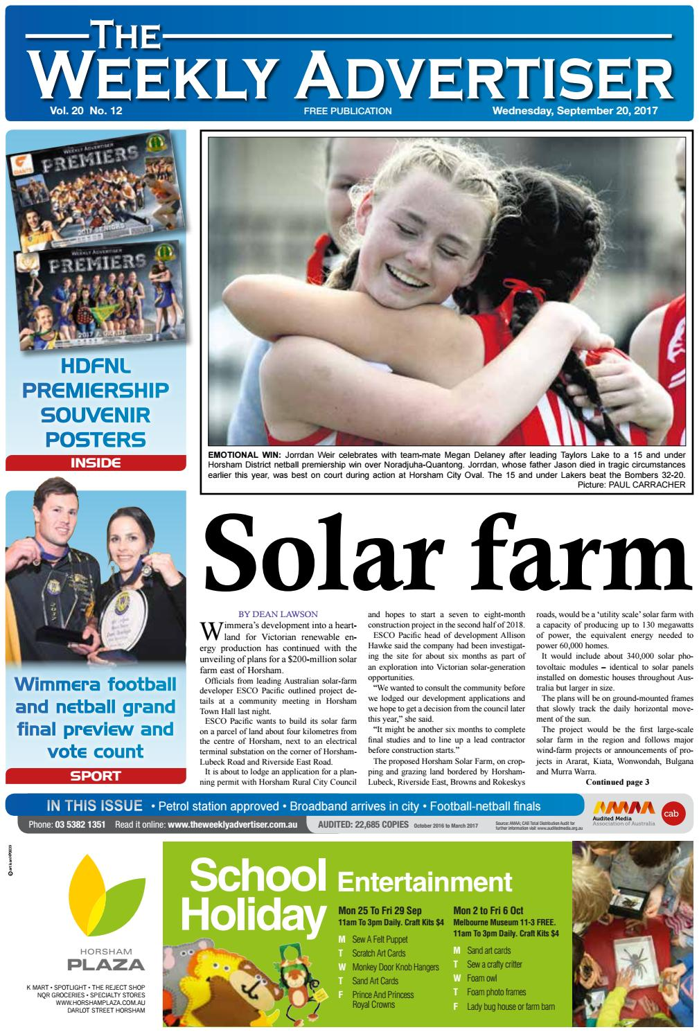 The Weekly Advertiser Wednesday September 20 2017 By Gibson Ripper Wiring Harness Issuu