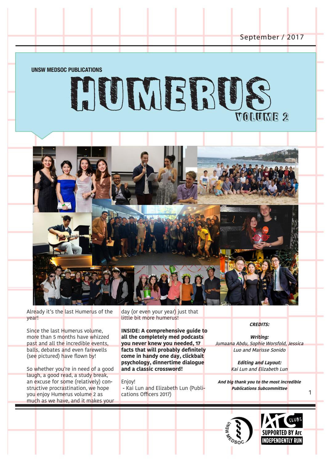 Humerus 2017 Issue 2 By Unsw Medsoc Issuu