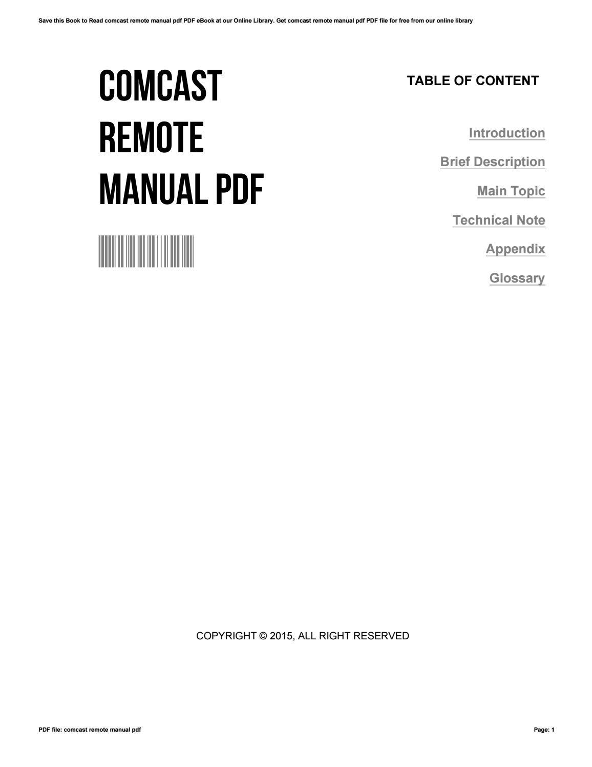 comcast remote manual pdf by jasontierney2554