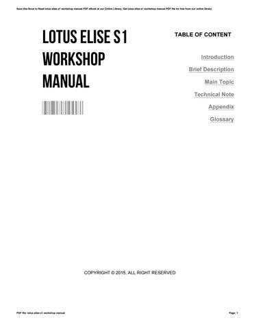 lotus elise s1 workshop manual by pauldunn1409 issuu rh issuu com Lotus Elise S Track Spec Lotus Exige S1