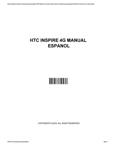 htc inspire 4g instruction manual ebook