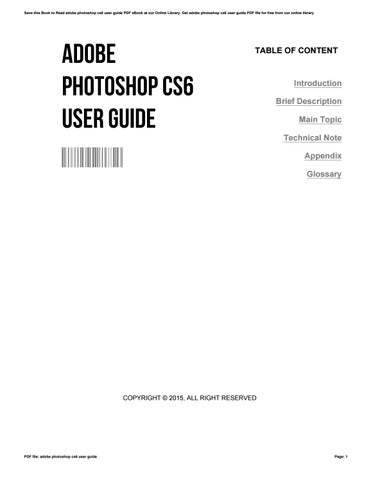 User pdf guide full photoshop adobe