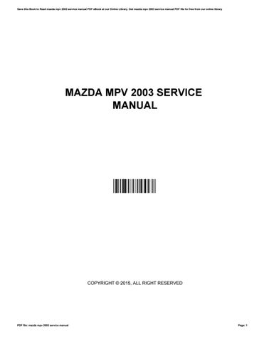 2000 mazda mpv workshop manual free owners manual u2022 rh wordworksbysea com 2001 mazda mpv owner's manual 2001 mazda protege owners manual