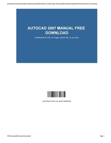 autocad 2007 manual free download by rolandmadsen2612 issuu rh issuu com Autocad Viewer Autocad Viewer