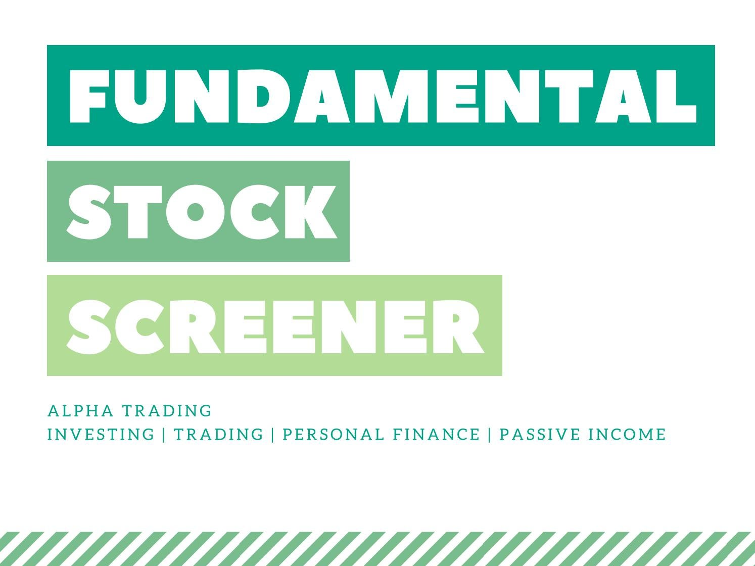 List of fundamental stock screener every indian investor