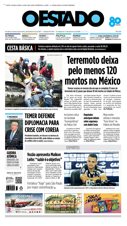20 09 2017 -Edição 23115 by Jornal O Estado (Ceará) - issuu f7326147b36d0