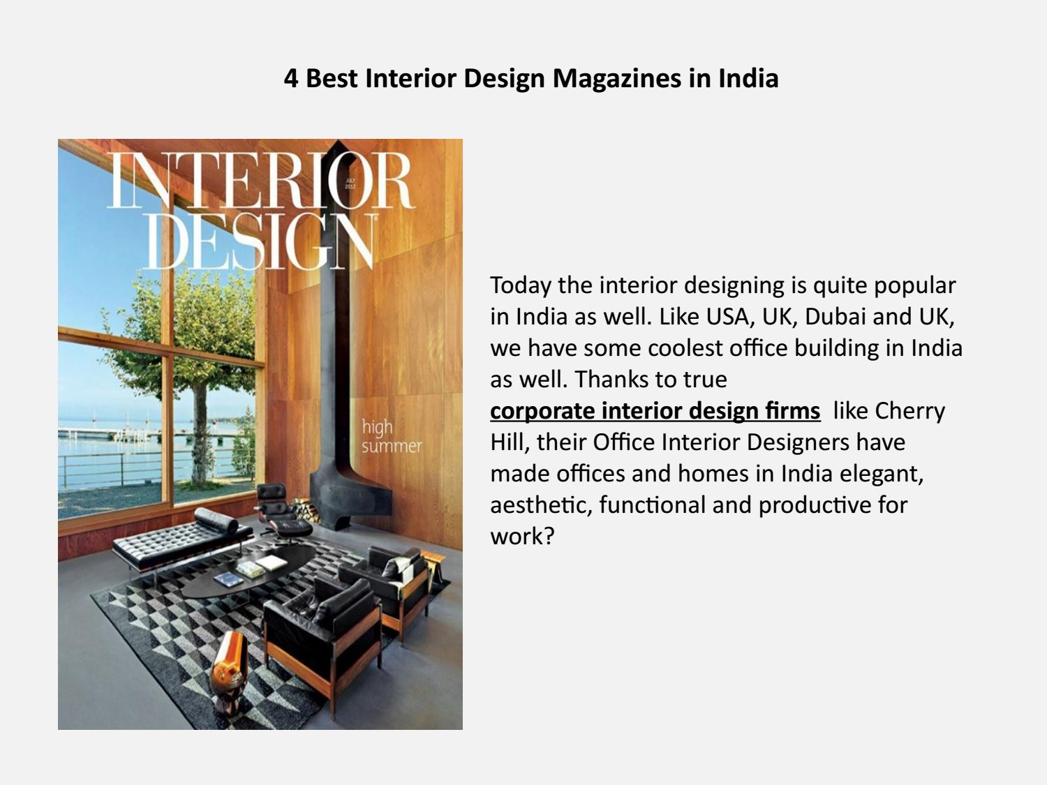4 Best Interior Design Magazines In India By Cherry Hill Issuu