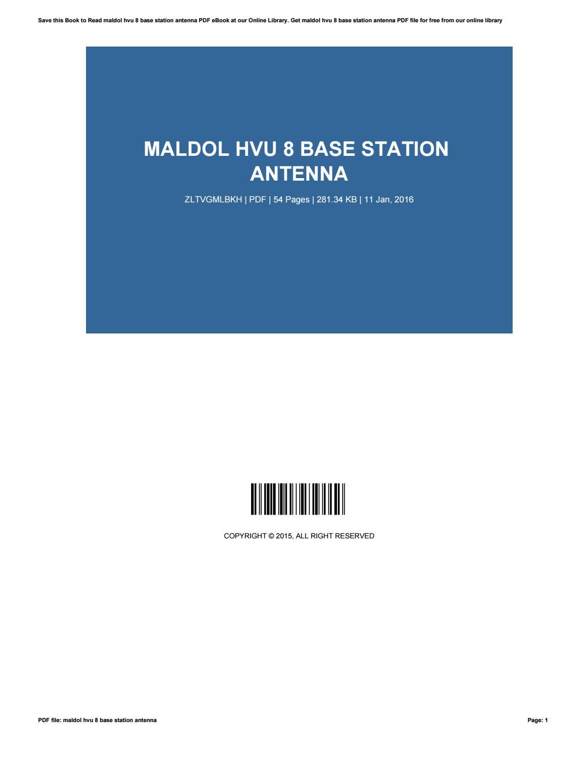 Maldol hvu 8 base station antenna by StevenLavery3207 - issuu