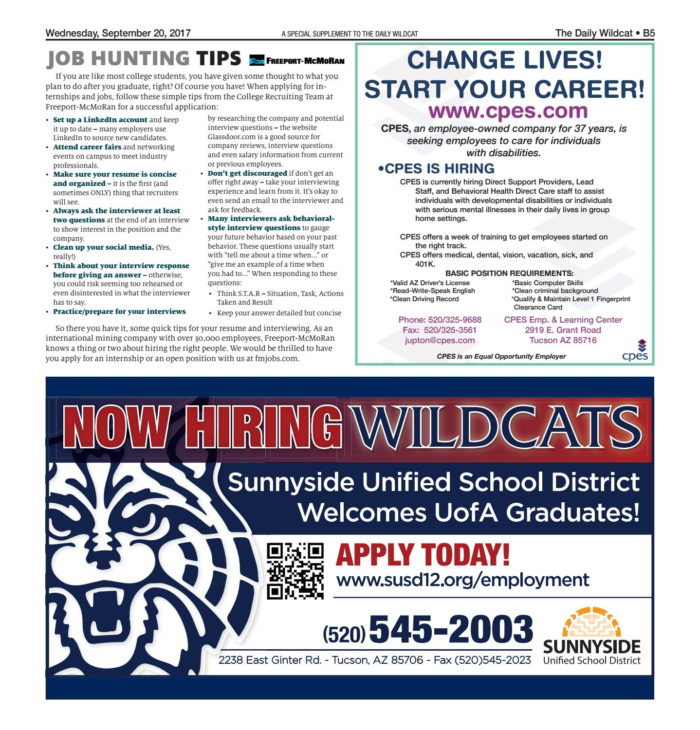 Career Days Guide 2017 By Arizona Daily Wildcat