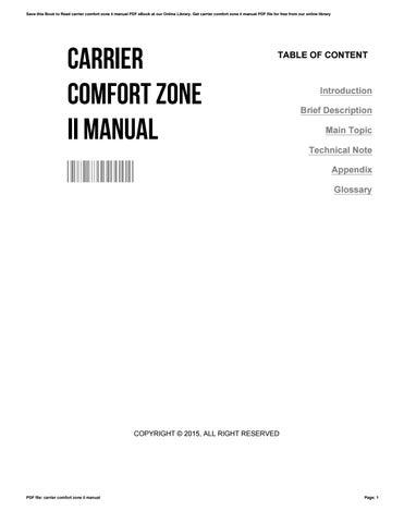 Array - carrier comfort zone ii manual by charlesfunk4330   issuu  rh   issuu com