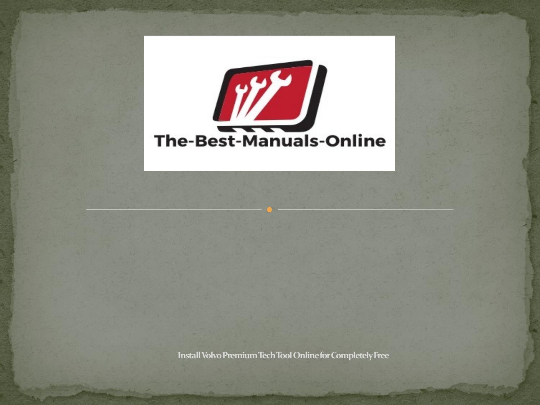 volvo manuals online