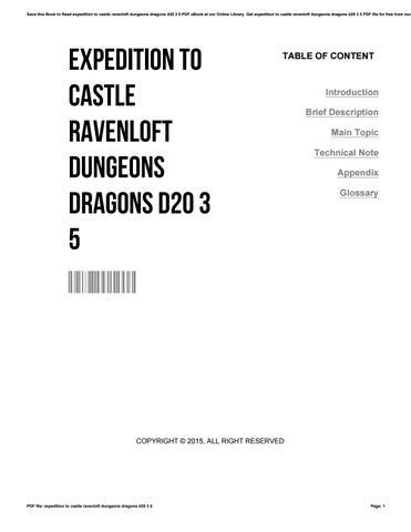 Ravenloft D20 Pdf
