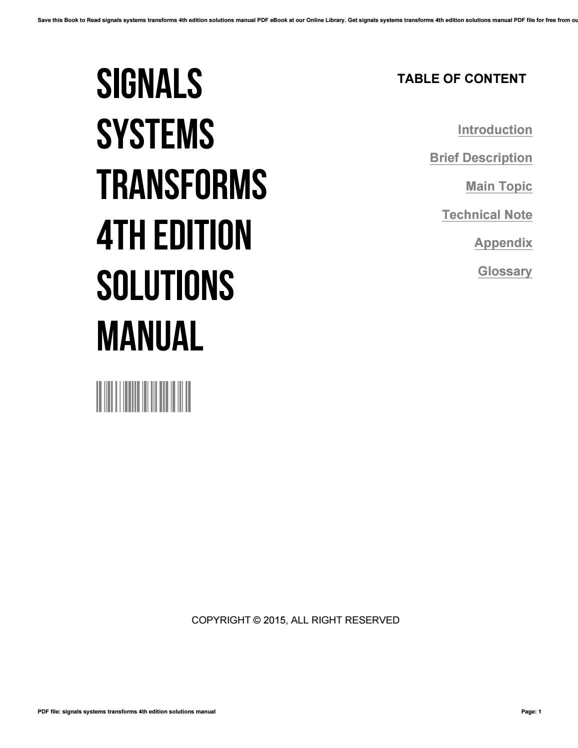 Simon Haykin Signals And Systems Solution Manual Pdf