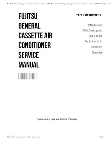fujitsu general cassette air conditioner service manual by rh issuu com