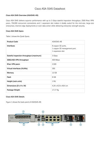 Cisco asa 5545 datasheet by Genevicost - issuu