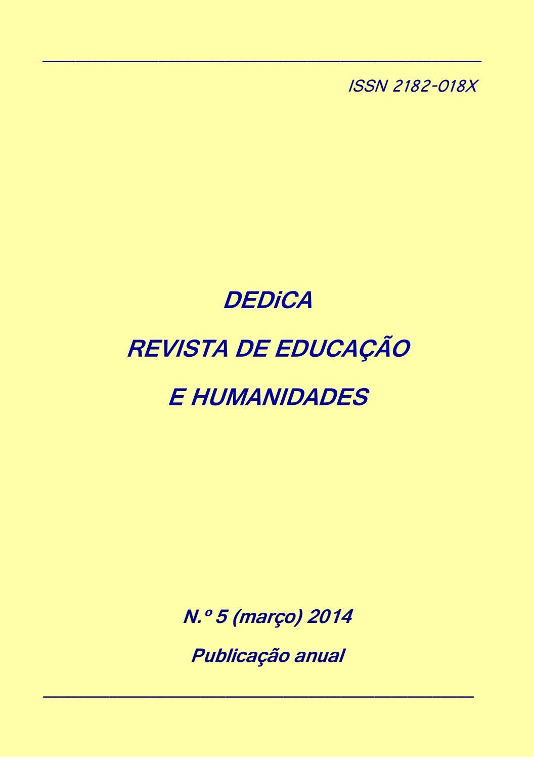 Dedica Nº 5 2014 Issn 2182 018x By Dedica Revista De Educacao E Humanidades Issuu