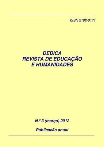 3b3a5dcd524dc Dedica nº 3 2012 issn 2182 0171 by DEDiCA. REVISTA DE EDUCAÇÃO E ...